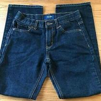 Old Navy Boys/girls Blue Denim Jeans Size 12 Regular Boot Cut Poly/cotton Photo