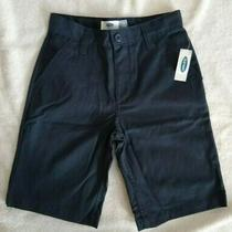 Old Navy Boys Size 8 Navy Blue Shorts - Adjustable Waist Hook and Bar Closure Photo