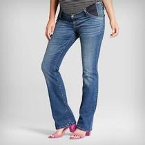Old Navy by Gap Maternity  New Nwt Size 4  Distressed Side-Panel Bootcut Jeans Photo
