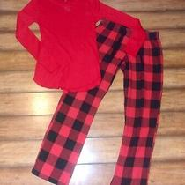 Old Navy by Gap  Woman's Small Xs  Red Plaid Flannel & Thermal Pajama Pj Set Photo