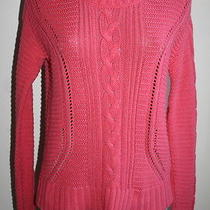 Old Navy Cable Knit Sweater Coral Color Size S/p  Photo