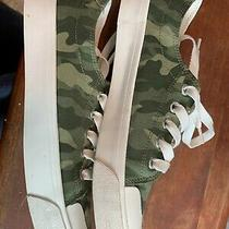 Old Navy Canvas Camo Platform Sneakers Sz 9 Photo