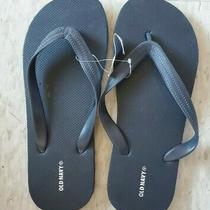 Old Navy Classic Blue Flip-Flop Thong Sandals New Youth Size 6 - 7 Photo