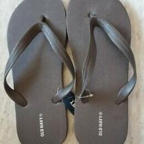 Old Navy Classic Brown Flip-Flop Thong Sandals New Youth Size 6 - 7 Photo