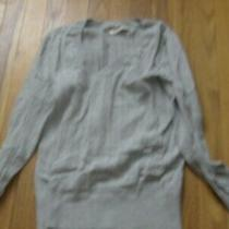 Old Navy Cotton Pale Gray v-Neck Sweater Size Medium Photo