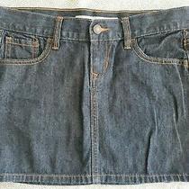 Old Navy Dark Denim Mini Jean Skirt Size 2 Low Rise  Photo