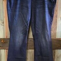 Old Navy Dark Indigo Blue Flare High Rise Stretch Jeans 24 Plus Long 24wl 1 Photo