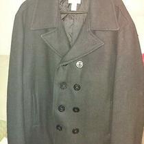 Old Navy Double Breasted Black Peacoat Jacket Women's Size Large Photo