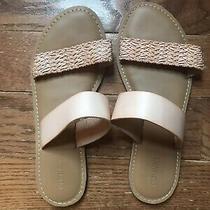 Old Navy Double-Strap Slide Flip Flops Sandals Sz 8 Blush Photo