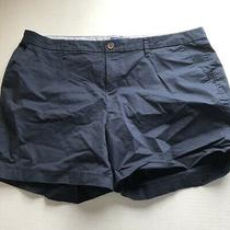 Old Navy Everyday Shorts Dark Blue Chino Womens Size 16 A1506 Photo