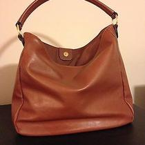 Old Navy Faux Leather Cognac Hobo Bag Photo