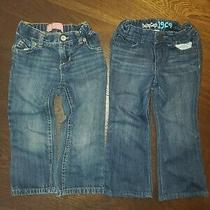 Old Navy & Gap Kids Girls Jeans Boot Cut Size 2t Lot of 2 Photo