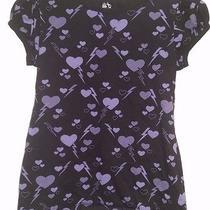 Old Navy Girl's Black/purple Hearts/lightening Bolts Shirt Size L Photo