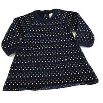 Old Navy Girl's Blue Polka Dot Dress Size 3-6 Months orig.24 Photo
