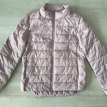 Old Navy Girls Blush Pink Fall Winter Puffer Jacket Coat Large 10-12 Photo