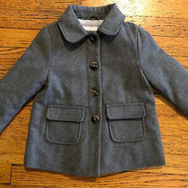 Old Navy Girls Gray Wool Dress Coat  Size 3t Euc Photo
