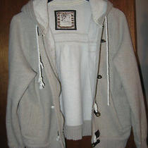 Old Navy Girls Size 10/12 Large Beige Jacket With Lamb Fleece Lining and Hood Photo
