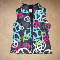 Old Navy Girls Size Xl X Large 14 Vest Puff Peace Jacket Coat Nice Photo