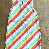 Old Navy Girls Vintage Euc 3t Rainbow Stripe Lined Dress Photo