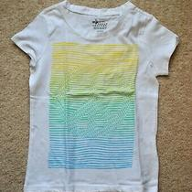 Old Navy Girls' White Piece Short Sleeves Cotton T-Shirt - Size Xs (5) Photo