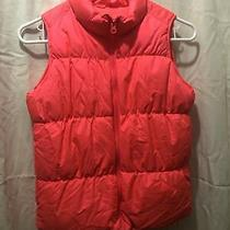 Old Navy Girls Youth Pink Puffer Vest Frost Free  Size Large 10/12 Excellent Photo