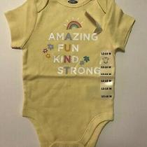 Old Navy Graphic Print Bodysuit for Baby Girl 12-18 M 18-24 M Photo