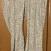 Old Navy Gray/cream Leopard Print Fleece Sleep Pant (Size Xxl) Photo