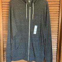 Old Navy Gray Long-Sleeve Zip Hoodie L Nwt Photo