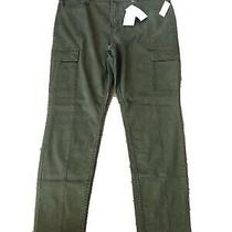 Old Navy High-Waisted Sateen Rockstar Super Skinny Cargo Pants Size 16-Green-Nwt Photo