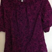 Old Navy Hobo Women's Medium Purple Sheer Blouse. Geometric Beautiful Photo