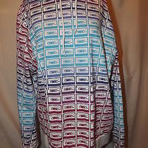 Old Navy Hoodie Shirt Top Long Sleeves Kangaroo Pocket Cassette Tape L Large New Photo
