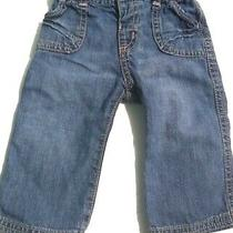 Old Navy Infant Baby Girls Denim Blue Jeans Size 6m Months Pants Bottoms Photo