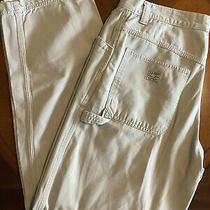 Old Navy Ivory Carpenter Pants Sz 33 Regular Euc Photo