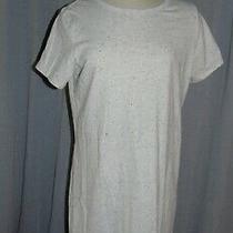 Old Navy Large  Short Sleeve T Shirt Dress Grey  / Black Speckle Cotton Photo