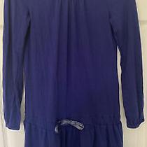 Old Navy Long-Sleeve Dress/girls Size L (10-12) Blue Photo