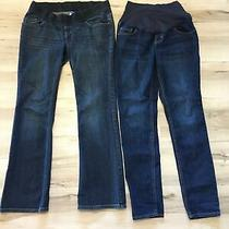 Old Navy Lot of Two Womens Denim Blue Maternity Jeans Size 4 Excellent Condition Photo