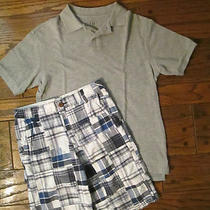 Old Navy Madras Shorts & Gap Kids Grey Polo Shirt Size 10 12  Great Condition Photo
