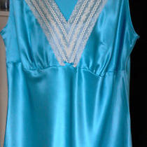 Old Navy Maternity 100% Silk Camisole  S  Aqua Blue Photo