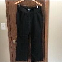 Old Navy Maternity Black Boot Cut Pants (Size 8) Demi Waist Photo