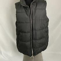 Old Navy Maternity Black Puffer Vest Fleece Lined M Medium Photo