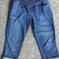 Old Navy Maternity Cuffed Capri Pants Size 8 Medium Pants Smooth Panel Photo