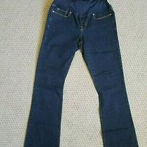 Old Navy Maternity Dark Wash Sexy Boot Cut Jeans 27 4 Long - Euc Photo