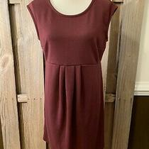 Old Navy Maternity Dress Wine Red Bodycon Cap Short Sleeves Career M Knee Length Photo