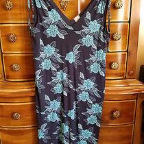 Old Navy Maternity Lined Sundress Size Xs Small Dress Navy Blue Floral Photo