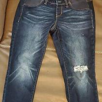 Old Navy Maternity Side Panel Rockstar Blue Jeans Size 6 Standard  Photo