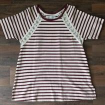 Old Navy Maternity Striped Top Small Sheer Cut Out Photo
