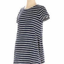 Old Navy - Maternity Women Blue Short Sleeve T-Shirt S Maternity Photo
