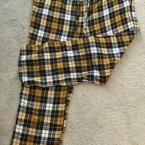 Old Navy Men's Xxl Flannel Pants Nwt Drawstring Closure Yellow and Navy Check Photo