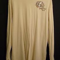 Old Navy Mens Xl Tan Long Sleeve Crew Neck T-Shirt Indian Chief Brave Badge Tee Photo