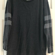 Old Navy New Womens Long Sleeve Shirt Top Dark Gray Stripe Size Xs Photo